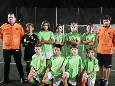 Equipo alevín de fútbol del CEV