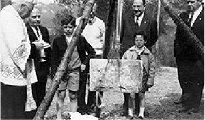Joaquim Lloveras Fundador del CEV a l'acte de la Primera Pedra