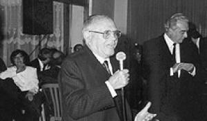 El President i Soci número 1 D. Eduard Caballero junt amb el President d'Honor D. Eduard Recasens